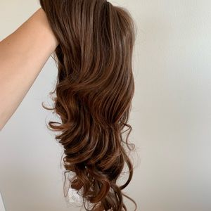 Accessories - Long natural brown hair wig